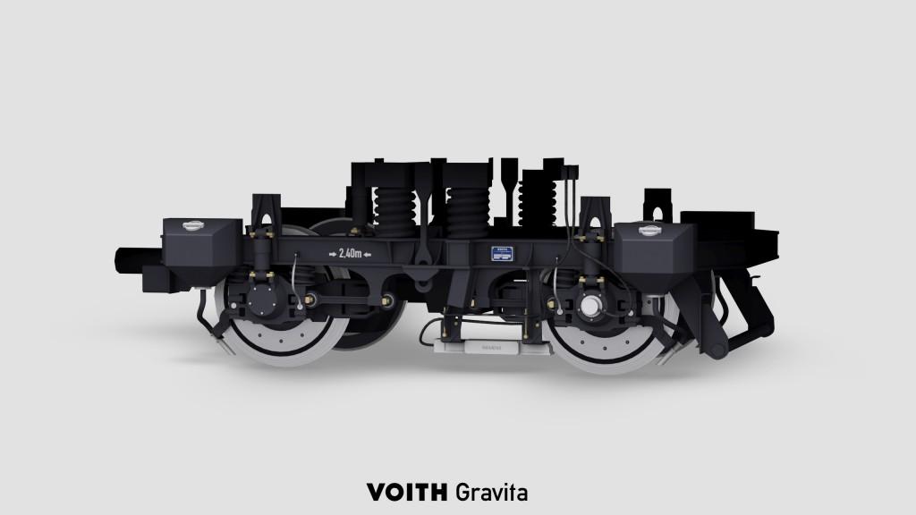 Drehgestell der Voith Gravita